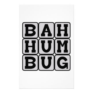Bah Humbug, Anti-Christmas Sentiment Custom Stationery