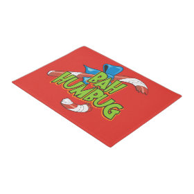Bah Humbug Broken Christmas Candy Cane Doormat