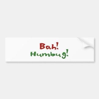 Bah Humbug! Bumper Stickers