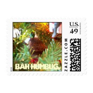 Bah Humbug Cat Stamps