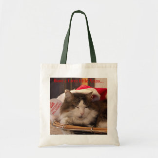 Bah Humbug Cat Tote Canvas Bags