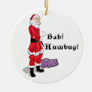 Bah Humbug Christmas 2011 Double-Sided Ceramic Round Christmas Ornament