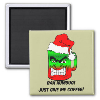 bah humbug Christmas 2 Inch Square Magnet