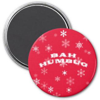 Bah Humbug Christmas 3 Inch Round Magnet