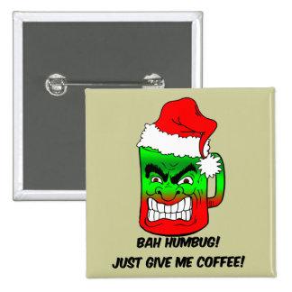 bah humbug Christmas Button