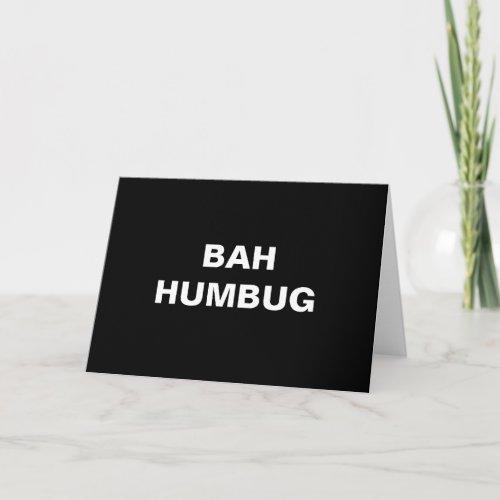 Bah Humbug Christmas Greeting Cards