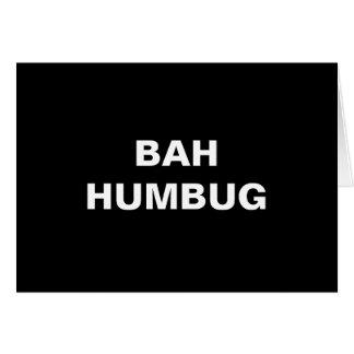 Bah Humbug Christmas Card