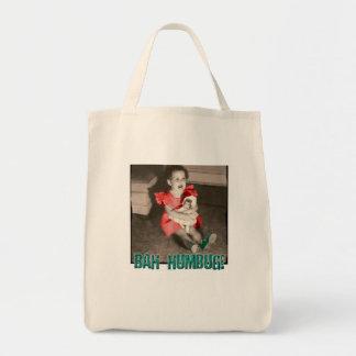Bah Humbug! Christmas Holiday Grocery Tote Bag