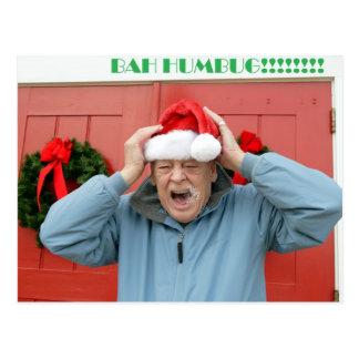 Bah humbug, christmas postcard