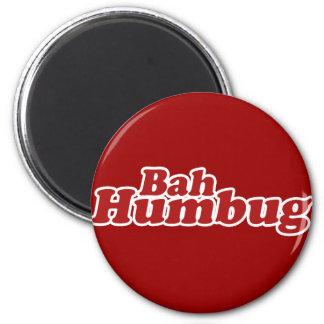 Bah Humbug Christmas Scrooge 2 Inch Round Magnet