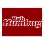 Bah Humbug Christmas Scrooge Greeting Card