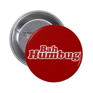 Bah Humbug Christmas Scrooge Pinback Button