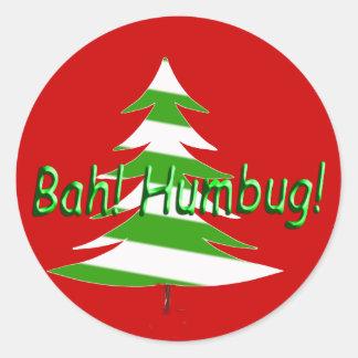 Bah! Humbug! Classic Round Sticker