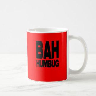 Bah humbug classic white coffee mug