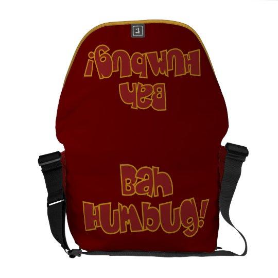 BAH HUMBUG! custom messenger bag