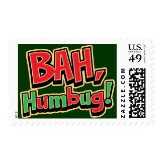 Bah Humbug Custom Postage Stamp