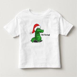 Bah Humbug! Cute, Alligator cartoon with Santa hat Toddler T-shirt