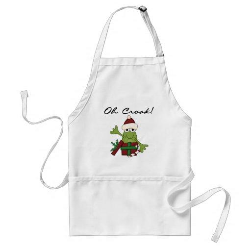 Bah Humbug Frog Christmas Tshirts and Gifts Adult Apron