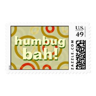 Bah Humbug Funny Christmas Postage