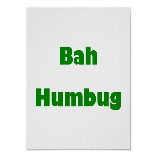 Bah Humbug (green) Poster