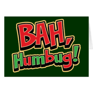 Bah Humbug Greeting Cards - Dark Background