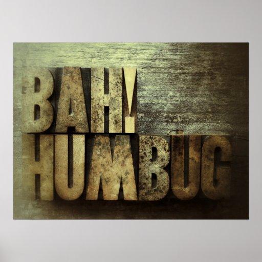 Bah! Humbug grunge poster