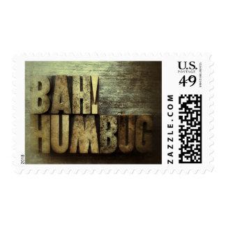 Bah! Humbug grunge stamp