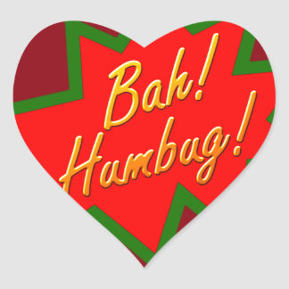 Bah Humbug Heart Sticker