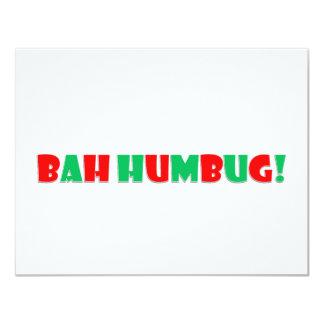 Bah Humbug 4.25x5.5 Paper Invitation Card