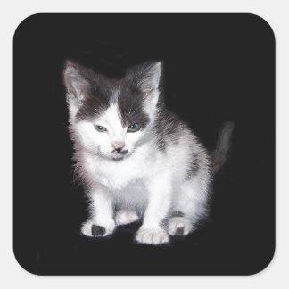 Bah Humbug Kitten Square Sticker