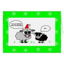 Bah Humbug / Merry Christmas Sheep Holiday Card