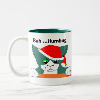 Bah ...Humbug Two-Tone Coffee Mug