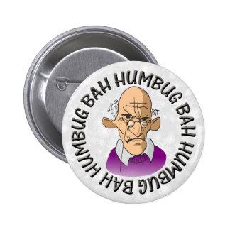 Bah Humbug Old Man Button