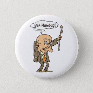Bah Humbug Old Man Pinback Button