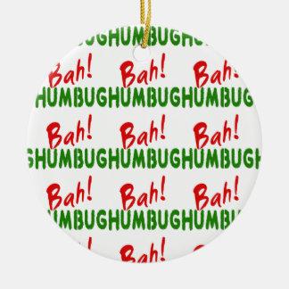 Bah Humbug Christmas Tree Ornaments