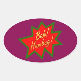 Bah Humbug Oval Sticker