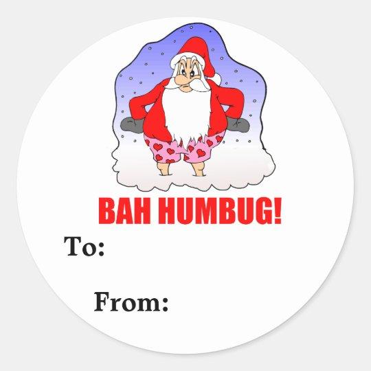 Bah Humbug Package Sticker