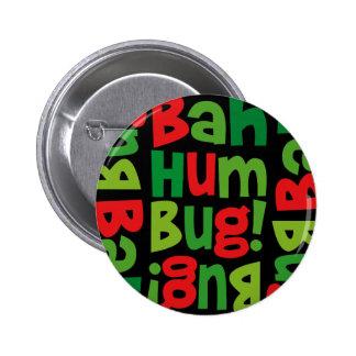Bah Humbug Pattern Button