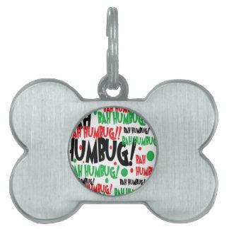 Bah Humbug Pet Name Tag