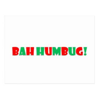 Bah Humbug Postcard