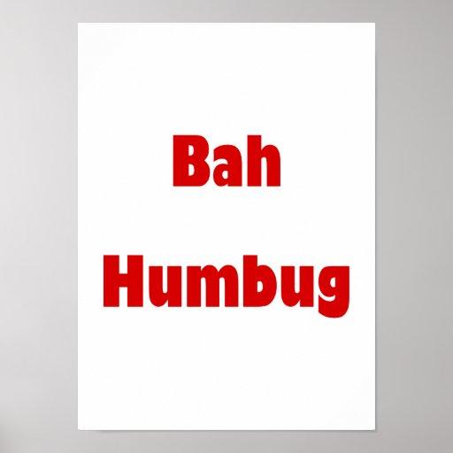 Bah Humbug (red) Posters