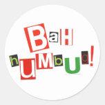 Bah Humbug! Round Sticker