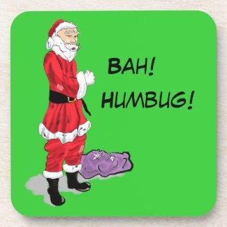 Bah! Humbug! Santa Drink Coaster