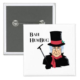 Bah Humbug Scrooge Button
