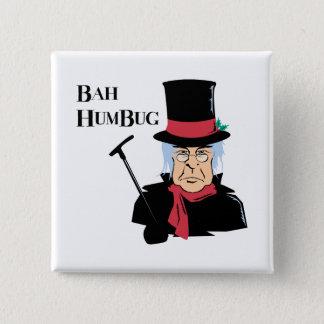 Bah Humbug Scrooge Pinback Button