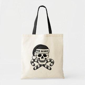 'Bah Humbug' Skull Tote Bag