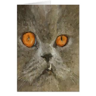 Bah Humbug Snaggle Tooth Cat Card