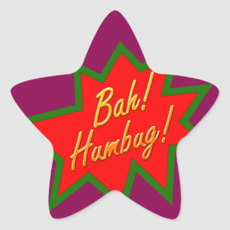 Bah Humbug Star Sticker