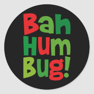 Bah Humbug Round Stickers
