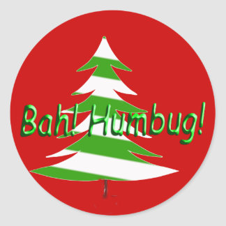 Bah! Humbug! Round Stickers